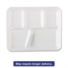 Genpak Foam School Trays, 5-Comp, 10 2/5 x 8 2/5 x 1 1/4, White, 500/Carton