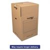 Bankers Box SmoothMove Wardrobe Boxes, 24l x 24w x 40h, Kraft/Blue, 3/Carton