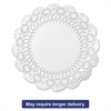 "Hoffmaster Cambridge Lace Doilies, Round, 12"", White, 1000/Carton"