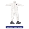 DuPont Tyvek Elastic-Cuff Hooded Coveralls w/Boots, White, 4X-Large, 25/Carton