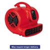 Sanitaire Commercial Three-Speed Air Mover, 1/2 hp Motor, 20 lbs, Red/Black