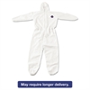 DuPont Tyvek Elastic-Cuff Hooded Coveralls, White, 4X-Large, 25/Carton