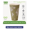 Eco-Products World Art Renewable & Compostable Insulated Hot Cups - 16oz., 40/PK, 15 PK/CT