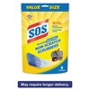 S.O.S. Non-Scratch Soap Scrubbers, Blue, 8/Pack, 6 Packs/Carton