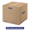 Bankers Box SmoothMove Basic Medium Moving Boxes, 18l x 18w x 16h, Kraft/Blue, 20/BD