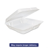 Dart Foam Hinged Lid Containers, 8 x 8 x 2 1/4, White, 200/Carton