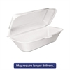 Foam Hoagie Container with Removable Lid, 9-4/5x5-3/10x3-3/10, White, 125/Bag