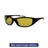 V40 HellRaiser Safety Glasses, Black Frame, Amber Lens