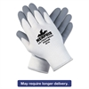 Memphis Ultra Tech Foam Seamless Nylon Knit Gloves, Large, White/Gray, 12 Pair/Dozen