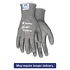 Memphis Ninja Force Polyurethane Coated Gloves, Large, Gray, Pair