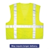 Luminator Safety Vest, Lime Green w/Stripe, 2X-Large