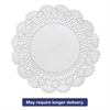 "Hoffmaster Cambridge Lace Doilies, Round, 8"", White, 1000/Carton"