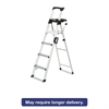 Signature Series Aluminum Folding Step Ladder w/Leg Lock & Handle, 6 ft, 4-Step