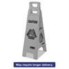 Rubbermaid Commercial Executive 4-Sided Multi-Lingual Caution Sign, Gray, 11 9/10 x 38, 6/Carton