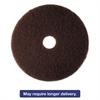 "Low-Speed High Productivity Floor Pad 7100, 14"" Diameter, Brown, 5/Carton"