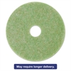 "Low-Speed TopLine Autoscrubber Floor Pads 5000, 14"" Diameter, Green/Orange, 5/CT"