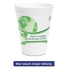 WinCup Vio Biodegradable Cups, Foam, 16 oz, White/Green, 500/Carton