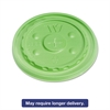 Vio Biodegradable Lids f/32 oz Cups, Straw-Slot, Green, 500/Carton
