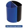 Safco Desk-Side Recycling Receptacle, 7gal, Black and Blue