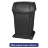 Rubbermaid Commercial Ranger Fire-Safe Container, Square, Structural Foam, 45 gal, Black