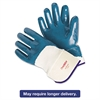 Memphis Predator Nitrile Gloves, Blue/White, Large, 12 Pairs