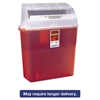 Medline Sharps Container for Patient Room, Plastic, 3gal, Rectangular, Red