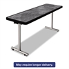 aero Mobile Folding Table, 60 x 24 x 29, Pewter