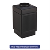 Safco Canmeleon Top-Open Receptacle, Square, Polyethylene, 38gal, Textured Black
