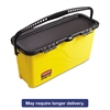 Rubbermaid Commercial HYGEN HYGEN Top Down Charging Bucket, Yellow/Black
