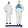 Disposable Protective Coveralls, White, X-Large, 6/Pack