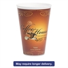 Marquee Coffee House Paper Wrapped Cups, Foam, 16 oz, Maroon, 500/Carton