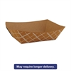 Paper Food Baskets, Brown/White Check, 1 lb Capacity, 1000/Carton