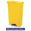 Rubbermaid Commercial Slim Jim Resin Step-On Container, Front Step Style, 18 gal, Yellow