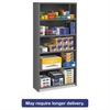 Closed Commercial Steel Shelving, Six-Shelf, 36w x 12d x 75h, Medium Gray
