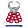 "Steel Lockout Hasp, Steel/Vinyl, 2 3/8"", Red"