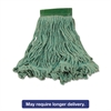 Super Stitch Blend Mop Heads, Cotton/Synthetic, Green, Medium