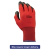 North Safety NorthFlex Red Foamed PVC Gloves, Red/Black, Size 9L, 12 Pairs