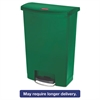Slim Jim Resin Step-On Container, Front Step Style, 24 gal, Green