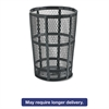 Rubbermaid Commercial Steel Street Basket Waste Receptacle, Round, Steel, 45 gal, Black