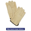Memphis Unlined Pigskin Driver Gloves, Cream, Large, 12 Pairs
