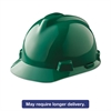 MSA V-Gard Hard Hats, Ratchet Suspension, Size 6 1/2 - 8, Green