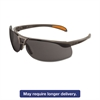 Protege Safety Glasses, Ultra-dura Anti-Scratch, Sandstone Frame, Gray Lens