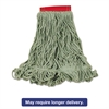 Rubbermaid Commercial Super Stitch Blend Mop Heads, Cotton/Synthetic, Green, Large