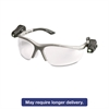 3M LightVision Safety Glasses w/LED Lights, Clear AntiFog Lens, Gray Frame
