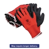 NorthFlex Red Foamed PVC Gloves, Red/Black, Size 10/XL, 12 Pairs