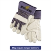 Mustang Leather Palm Gloves, Blue/Cream, X-Large, Dozen