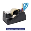 "Recycled 2-in-1 Heavy Duty Tape Dispenser, 1"" and 3"" Cores, Black"