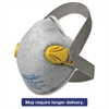 R20 P95 Particulate Respirator w/Nuisance Level Organic Vapor Relief,Yellow,80CT