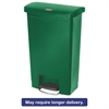 Slim Jim Resin Step-On Container, Front Step Style, 4 gal, Green