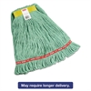 "Rubbermaid Commercial Web Foot Wet Mops, Cotton/Synthetic, Green, Small, 1""Yellow Headband,6/Carton"